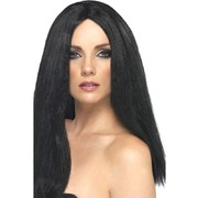 Long Black Straight Star Style Wig Pk 1