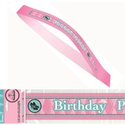 Fairytale Princess Birthday Satin Sash Pk1