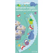 Under The Sea Cupcake Wraps Pk12