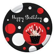 Cupcake Blowout Dots Paper Plates (9in-22cm) Pk 8