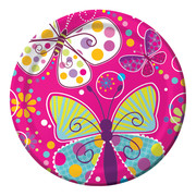 Butterfly Sparkle Paper Plates (9in-22cm) Pk 8