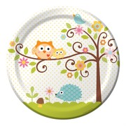 Owl Party Plates - Large 23cm Happi Tree Pk8