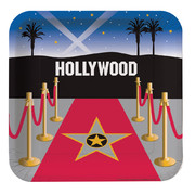 Reel Hollywood Square Paper Plates (9in-23cm) Pk 8