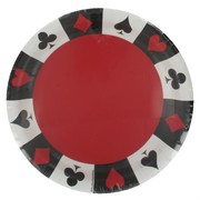 Card Night Party Plates - Large 22.2cm Pk8