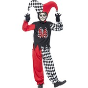 Halloween Blood Curdling Jester Child Costume (Large, 10-12 Years) Pk 1