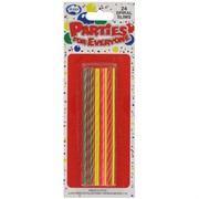 Candles Spiral Slims Pk24 (Assorted Colours)