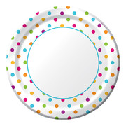 Happy Dots 10in Plates Pk 8