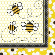 Busy Bees Lunch Napkins Pk 16