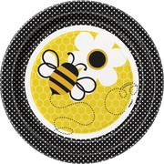 Busy Bees Paper Plates - 7in Pk 8