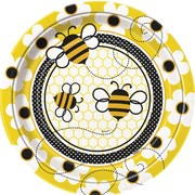Busy Bees Paper Plates - 9in Pk 8