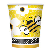 9oz Busy Bees Paper Cups Pk 8