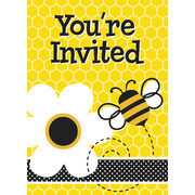 Busy Bees Invitations Pk 8