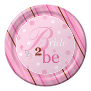 Bride To Be Paper Plates (10in-26cm) Pk 8