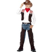 Deluxe Cowboy Child Costume (Medium, 7-9 Years) Pk 1