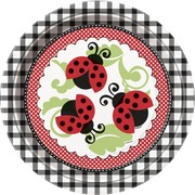 Ladybug Paper Plates - 9in Pk 8