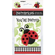 Ladybugs Invitations Pk 8
