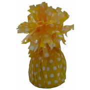 Yellow Balloon Weight with White Polka Dots Pk 1