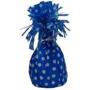 Royal Blue Balloon Weight with White Polka Dots Pk 1