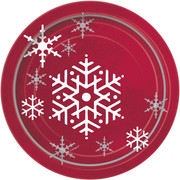 Christmas Sparkle Tree 7in Paper Plates Pk 8