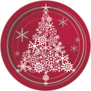 Christmas Sparkle Tree 9in Paper Plates Pk 8