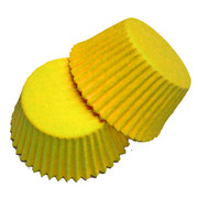 Large Yellow Paper Cupcake Cases Pk 20