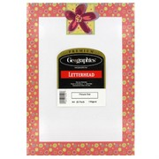 A4 Sheet Flower Dot Red Foil Premium Pk25