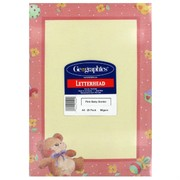 A4 Sheet Pink Baby Border Bear Pk25