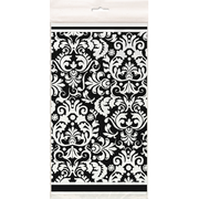 Black Damask Tablecover (1.37m x 2.13m) Pk 1