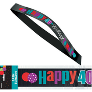 40 Birthday Cheer Satin Sash Pk 1