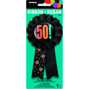 50 Birthday Cheer Award Ribbon Pk 1