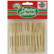 Bamboo Cocktail Party Forks Pk100