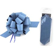 Diamond Peacock Blue 8in Pull Bow Decoration Pk 1