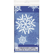 Winter Snowflakes Tablecover (1.37m x 2.13m) Pk 1