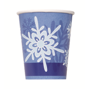 Winter Snowflakes 9oz Paper Cups Pk 8