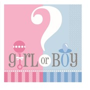 Baby Reveal Lunch Napkins (Baby Shower) Pk 10