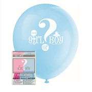 Baby Reveal 30cm Latex Balloons (Baby Shower) Pk 8