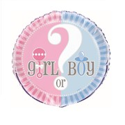 Baby Reveal 18in. Foil Balloon (Baby Shower) Pk 1