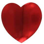 Red Heart Party Decoration - Cutout 230mm Pk1