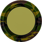 Military Camo Camouflage Paper Plates (9in.) Pk 8