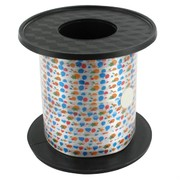 Ribbon Curling 250Yds 5mm Balloons & Stars Pk1