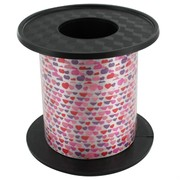 Ribbon Curling 250Yds 5mm Hearts Pk1