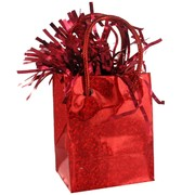Balloon Weight Giftbag Prismatic Red Pk1