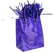 Balloon Weight Giftbag Prismatic Purple Pk1