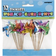 Pinwheel Foil Picks Pk 12