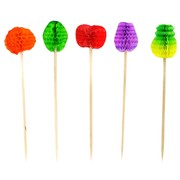 Honeycomb Fruit Picks Pk50 (Assorted Designs)