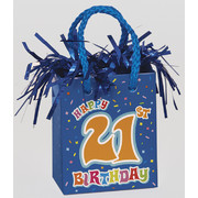 Happy 21st Birthday Giftbag Balloon Weight Pk 1