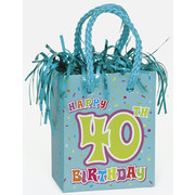 Happy 40th Birthday Giftbag Balloon Weight Pk 1
