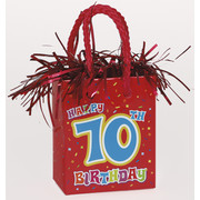 Happy 70th Birthday Giftbag Balloon Weight Pk 1