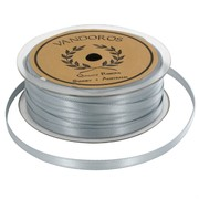 Ribbon Double Satin 6mm x 50m Silver Pk1