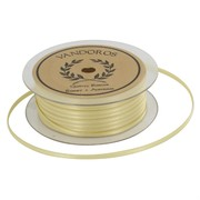 Ribbon Double Satin 3mm x 50m Gold Pk1